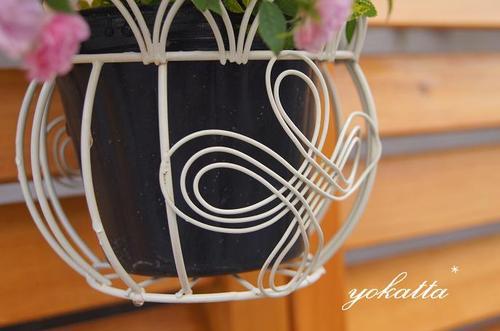 ワイヤー製鉢カバー